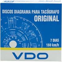 DISCO TACOGRAFO SEMANAL 180KM 7DIAS C/10 VDO - Cod.: 101999