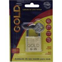 CADEADO 35MM GOLD CARTELA - Cod.: 105102