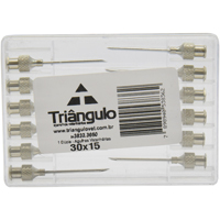 AGULHA VETERINARIA 30X15 TRIANGULO #N - Cod.: 105521