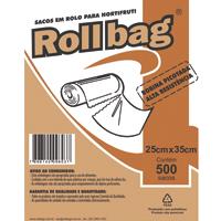 BOBINA SACO PLAST PICOT 25X35CM C/500 ROLL BAG - Cod.: 110493