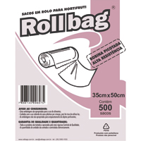 BOBINA SACO PLAST PICOT 35X50CM C/500 ROLL BAG - Cod.: 110495