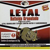 RATICIDA LETAL GRANULADO 40X25G LAIPPE - Cod.: 114700