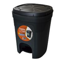 LIXEIRA PLAST C/ PEDAL 15L PTA ANTARES - Cod.: 116409