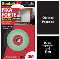 FITA DUPLA FACE ESPUMA FIXA-FORTE 24MMX2M 3M - Cod.: 118075