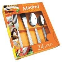 FAQUEIRO INOX 24PC MADRID - Cod.: 20367