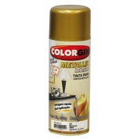 TINTA SPRAY COLORGIN METAL OURO 350ML - Cod.: 20507