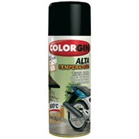 TINTA SPRAY COLORGIN ALTA TEMP PTO FOSCO 300ML - Cod.: 20511