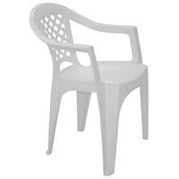 CADEIRA PLAST C/ BRACO IGUAPE BCA TRAMONTINA - Cod.: 3824