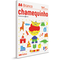 PAPEL A4 210X297MM C/100 CHAMEQUINHO - Cod.: 4909