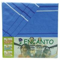 JOGO CAMA SOLT C/ ELAST 3P ENCANTO ESTAMPARIA - Cod.: 73527