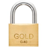 CADEADO 40MM GOLD - Cod.: 96359