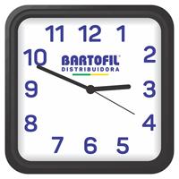 RELOGIO PAREDE BARTOFIL AMBIENTE QUAD - Cod.: 98307