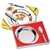 CONJ P/ MASSAS INOX 2PC GOLDEN INOX - Cod.: 99635