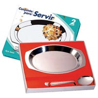 CONJ P/ SERVIR INOX 2PC GOLDEN - Cod.: 99636