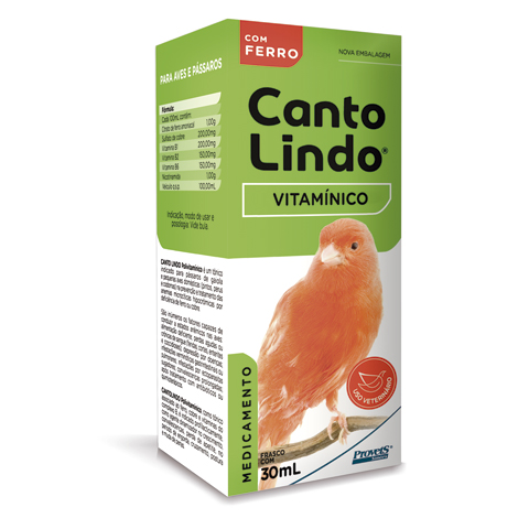 CANTOLINDO VITAMINICO 30ML SIMOES PET - Cod.: 86972
