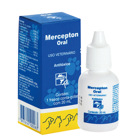 MERCEPTON ORAL 020ML BRAVET PET - Cod.: 91469